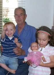 My dad with my 2 children